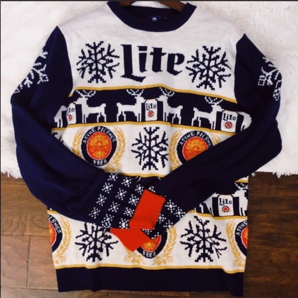 Other - Miller lite Christmas sweater beer holiday